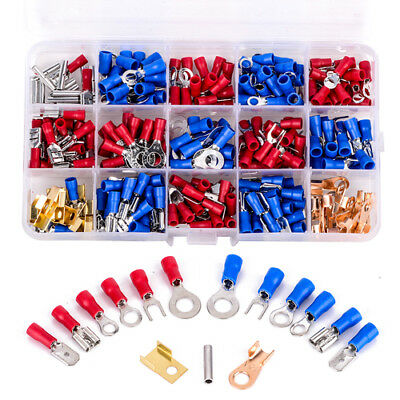 300pcs Connector Types Set Assorted Wire Insulated Crimp Electrical Terminals
