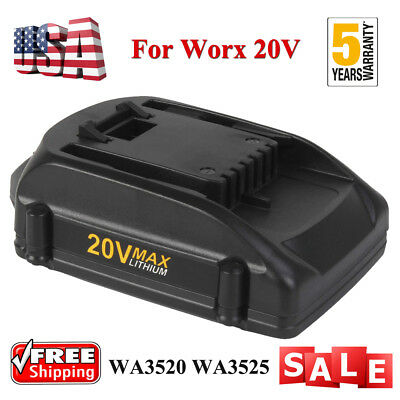 20V 2.0Ah WA3520 WA3525 MAX Lithium Battery For WORX  WG151s WG155s WG251s NEW!