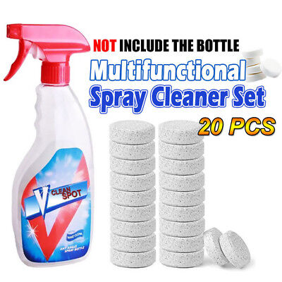 20x Multifunctional Effervescent Spray Cleaner for INVINCEABLE SPRAY BOTTLE Hot
