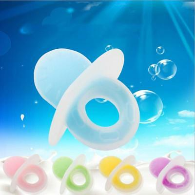 Baby Silicone  Teether Teething Chew Dummy Ring Toy FW