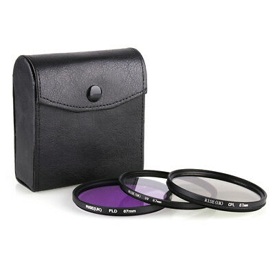 67MM UV CPL FLD Lens Filter Kit Set for Canon Sony DSLR SLR Cameras