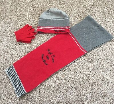 Mayoral Boys Scarf Hat Gloves Excellent Condition