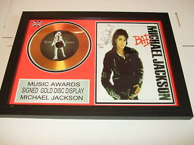 Michael Jackson   Signed  Gold  Disc  Y
