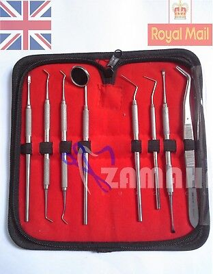 Zamaha Pro 8 Pcs Dental Kit Dental Pick,Tooth Scraper,Tooth Scraper professional