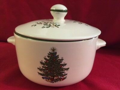 Cuthbertson Christmas Tree China Casserole Or Serving Dish With Lid England  EUC! - CUTHBERTSON CHRISTMAS TREE China Casserole Or Serving Dish With Lid