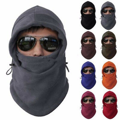 Thermal Motorcycle Fleece Balaclava Neck Winter Ski Full Face Mask Cap Cover Hat