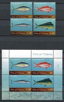 Tokelau 2012 Fische Fishes Poissons Pesci Meerestiere 428-431 Block 48 MNH