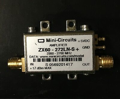 Brand New, Mini-Circuits ZX60-272LN-S+ 2300-2700MHz SMA RF amplifier