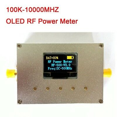 100K-10000MHZ OLED RF Power Meter -60~0dBm + Sofware RF Attenuation Value