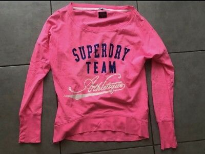 21f6c390a9e1c PULL FIN SUPERDRY Rose Taille S - EUR 15,00   PicClick FR