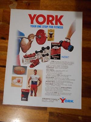 YORK BARBELL CO. INC. bodybuilding muscle Equipment advertisement ephemera ad