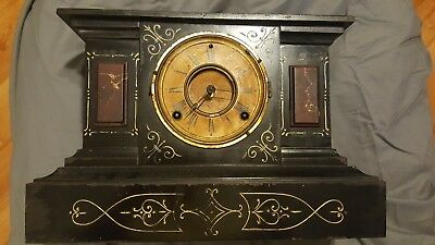 ANTIQUE ANSONIA Rosalind CAST IRON MANTEL CLOCK FOR PARTS ONLY