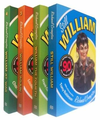 Just William 4 Books Richmal Crompton Kids Classic Funny Fiction 2-5 New