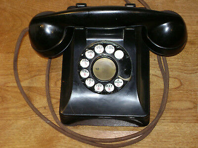 WESTERN ELECTRIC DIAL 302 TELEPHONE w/ F1 RECEIVER