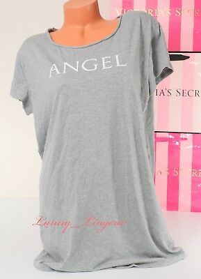 b061fad5607b2 VS VICTORIA'S SECRET Sleepshirt Angel Logo Sleep Pajama T-Shirt Sleepwear M  Gray