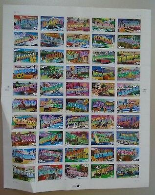 Greetings from the 50 States in America 34¢ USPS Postage Stamps NEW 2001