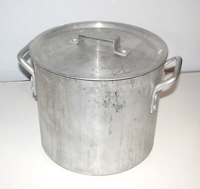Winco 16-qt Industrial Commercial Grade Kitchen Aluminum Stock Pot w/Lid