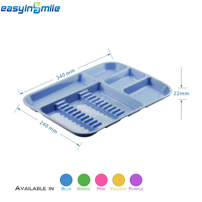1 PC Dental Instrument Dish/Tray Divided Autoclave Sterilized 5 Type EASYINSMILE