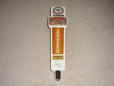 Ballast Point Pumpkin Down Ale Craft Beer Tap Handle Bar Skeleton San Diego NEW