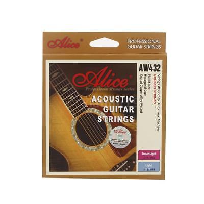Alice AW432 Acoustic Guitar Six Strings Coated Steel Set Anti-rust Light M7U9