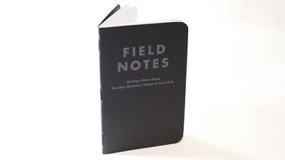"Pitch Black Ruled Memo Book 3.5"" 5.5"" Field Notes One Book"