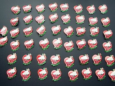 Vintage Valentine's Day Dennison Gummed Seals Stickers Lot of 50