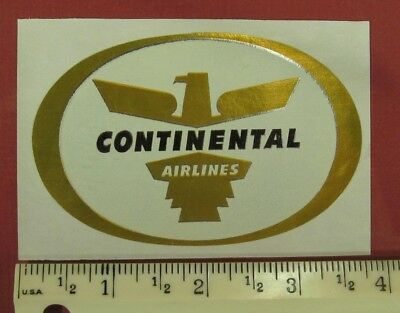 Continental Airlines, Vintage, Luggage Sticker,