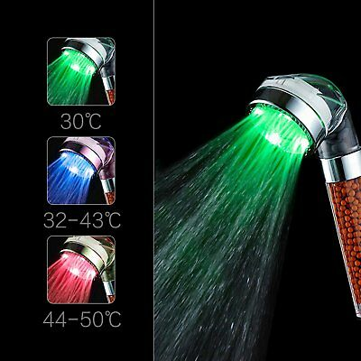 ICFPWR LED Shower Head, Negative Ionic Double Filter Removes Heavy Metals,