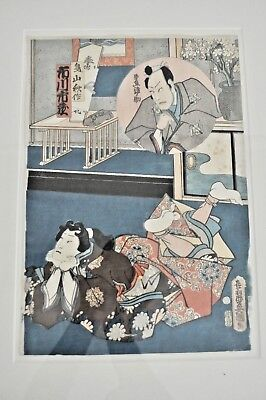 Toyokuni lll Antique Japanese Woodblock Wood Cut Print Japan Ukiyo-E Kunisada