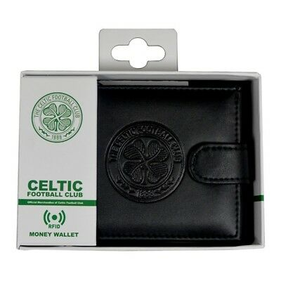 Celtic Fc Debossed Crest Rfid Real Leather Football Club Sports Money Wallet