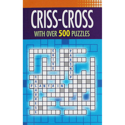Criss-Cross - With Over 500 Puzzles (Paperback), Non Fiction Books, Brand New