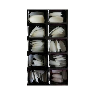 Assortiment de 100 Faux Ongles Blancs - Bout arrondi