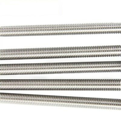 M2-M20 A2 304 Stainless Steel All Thread Threaded Rod Bar Studs Length 250/500mm