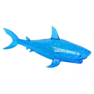 Light Up Squishy squeeze gel bead filled ball SHARK toy autism special needs