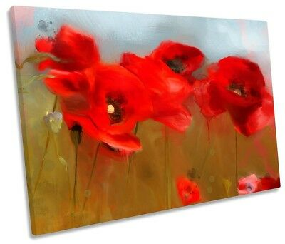 Extra Large Canvas Wall Art Print Picture Abstract Butterfly On Red Flower LB15