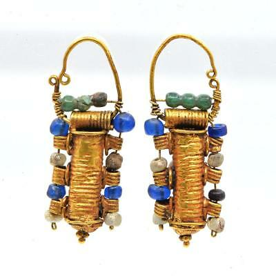 A pair of Etruscan Gold Earrings, ca. 4th century BC