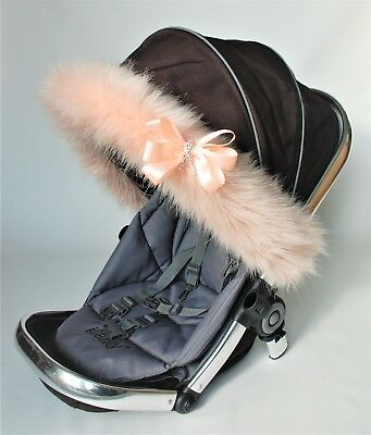 My Babiie, ICandy Hood fur trim for pushchair, pram  universal fit  Silver Cross