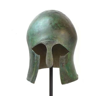* A Greek Bronze Helmet of Corinthian Type, Archaic Period, ca. mid 6th century
