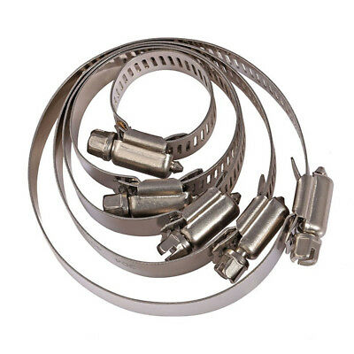 Metric Jubilee Type Pipe Clamps Hose Clips 304 A2 Stainless Steel ALL Sizes