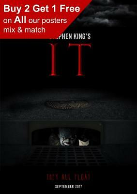 Stephen King It 2017 They All Float Teaser Poster A5 A4 A3 A2 A1