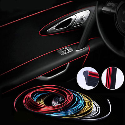 5M Diy Interni Auto Decorazione Adesivo Stampaggio Styling Strip Trim Line Unico