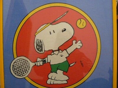 Vintage Snoopy Playing Tennis 1958 United Feature Syndicate -  originale -snoopy