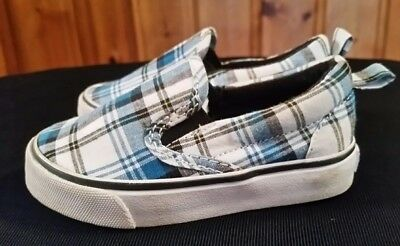 Kid's GYMBOREE Spy Guys Collection Plaid Blue / White (140080716) -5-  preowned