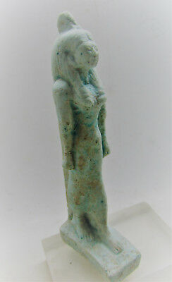 Ancient Egyptian Faience Statuette. Nefertiri. Very Rare