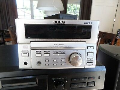 Teac MC-D78 FM, AM Tuner amplifier with CD. Works but minor problem