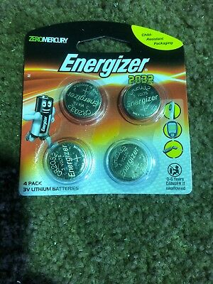 Genuine Energizer 3V Battery Lithium Coin 2032 Battery 3V 4 Pack free delivery