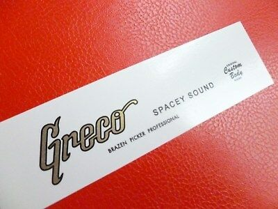 Greco Spacey Sound decal. Metallic gold ... waterslide
