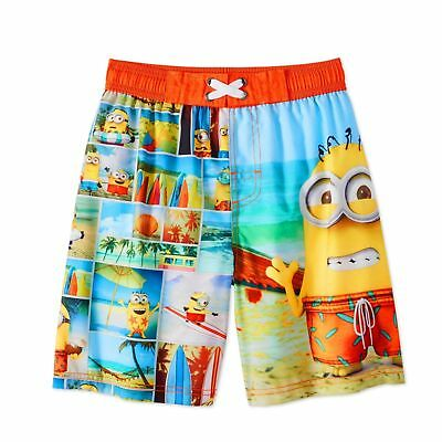 dfc5ef3fda1d0 Despicable Me Minions On The Beach Boys' Graphic Swim Trunk Board Shorts  UPF 50+