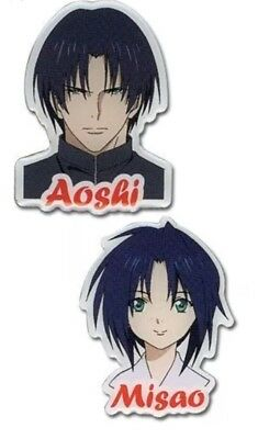 Rurouni Kenshin Misao and Aoshi 2 Pin set Anime Licensed NEW Manga Authentic
