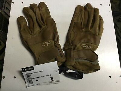 """NEW Outdoor Research Coyote """"Suppressor"""" Gloves**Genuine U.S. Military Issue**XL"""